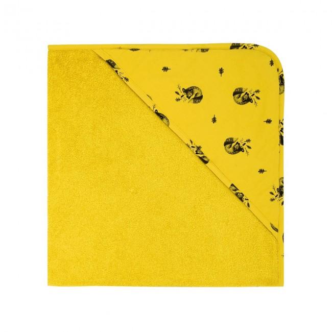 Cape de bain bébé jaune ceylan