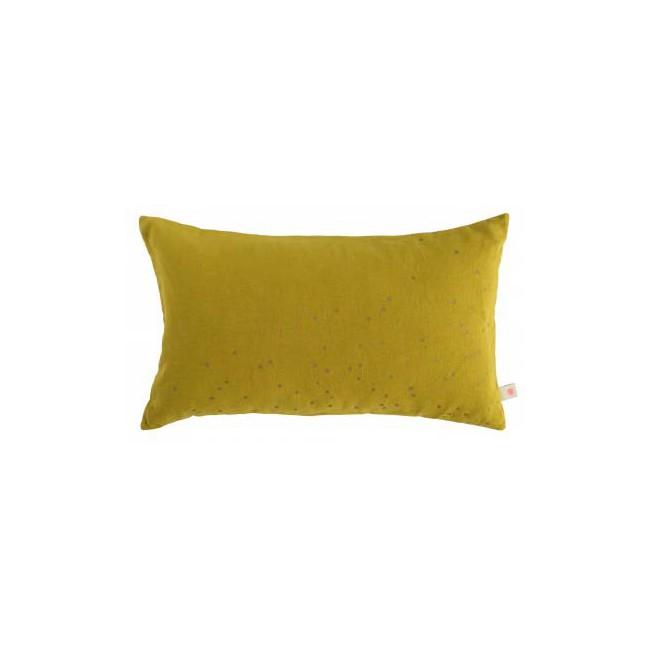 Housse de coussin Lina jaune colombo pluie or