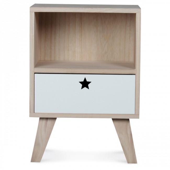 Table de chevet en bois enfant
