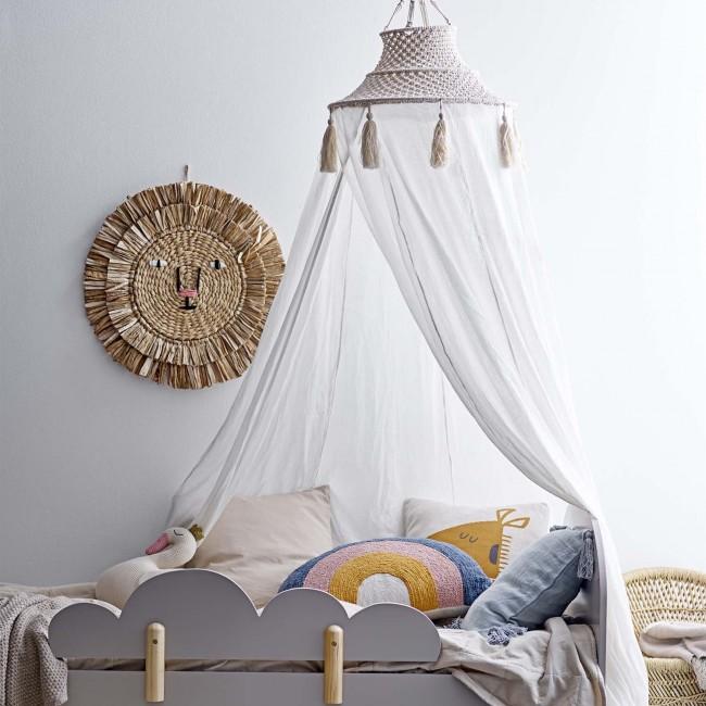 Ciel de lit coton et macramé - Bloomingville