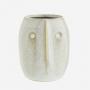 Petit vase impression visage