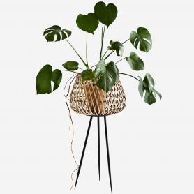Jardinière en bambou sur pieds