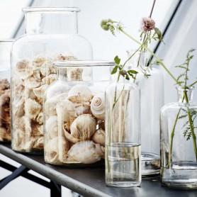 Vase en verre soliflore vintage