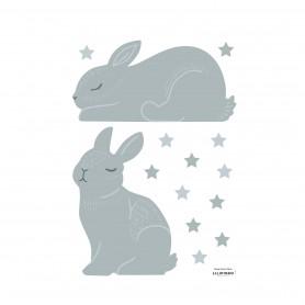 Sticker enfant lapin Adèle - Bleu soft