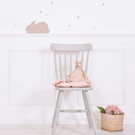 Sticker enfant lapin Adèle - Rose nude