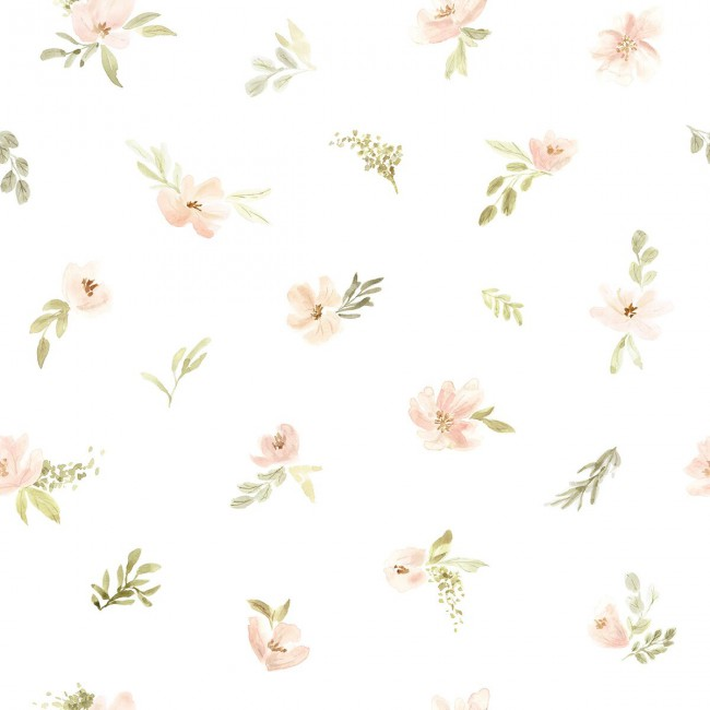 Papier Peint fleuri Appoline petites fleurs