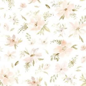Papier Peint fleuri Appoline grandes fleurs
