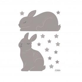 Sticker enfant lapin Adèle - Taupe clair