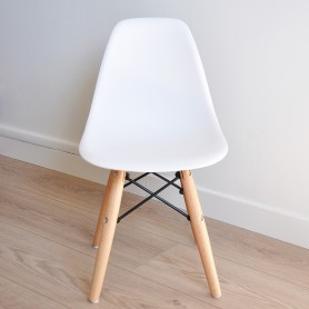 Chaise enfant style Dsw Eames - Blanc