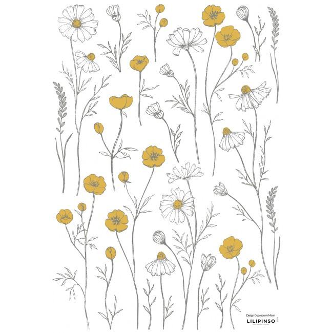 Sticker enfant petites fleurs des champs