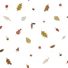 Papier peint enfant Forêt feuilles d'automne
