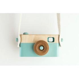 Appareil photo jouet en bois - Mint