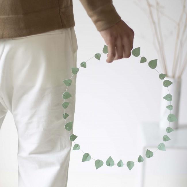 Guirlande décorative feuilles vertes