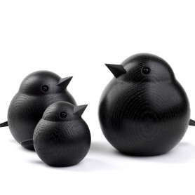 Oiseau en bois de frêne noir Sparrow