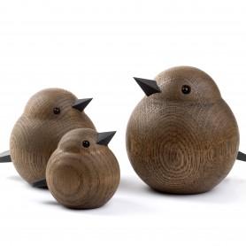 Oiseau en bois de chêne fumé Sparrow