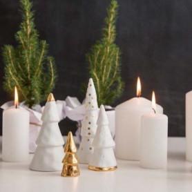 Forêt de Noël en porcelaine et doré