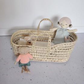 Couffin en paille pour poupée capuchon - Grand