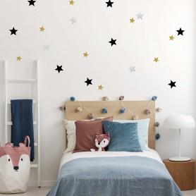 Stickers enfant étoiles régulières - Chic