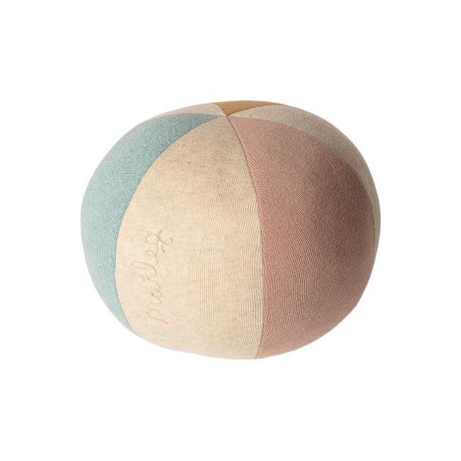 Ballon souple en coton bleu/rose