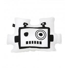 Coussin enfant masque de robot blanc Ooh Noo