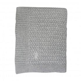 Couverture bébé en coton tout doux grise