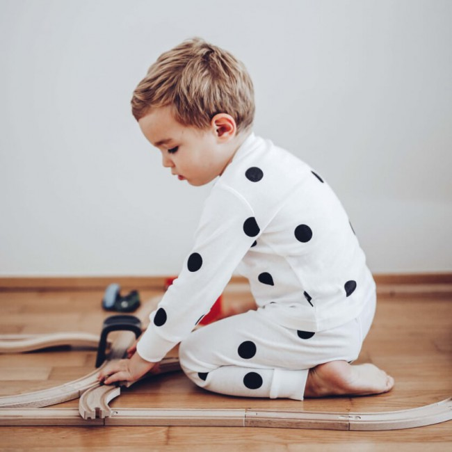 Pyjama enfant à pois - Ooh Noo