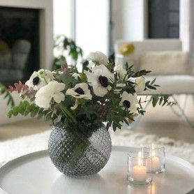 Vase rond grey