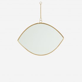 Petit miroir en laiton doré Madam Stoltz