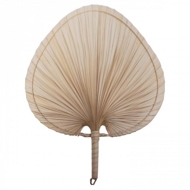 Eventail décoratif en feuilles de palmier