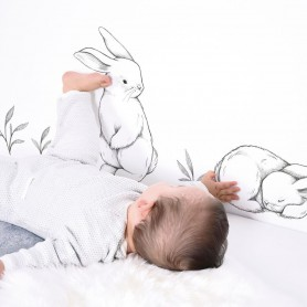 Sticker enfant 3 lapins