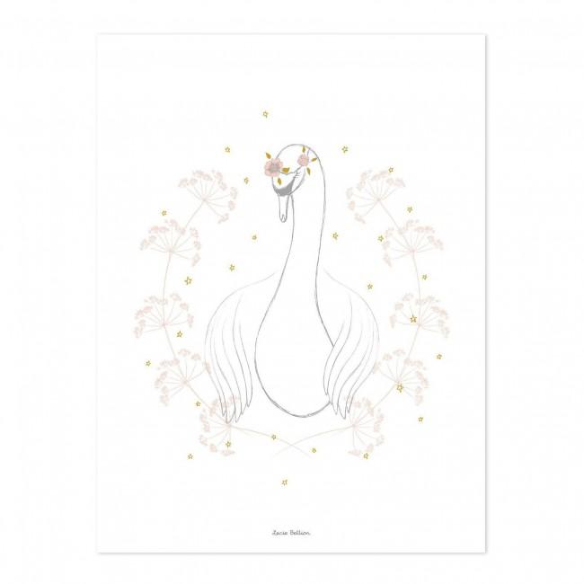 Affiche enfant Botany le cygne
