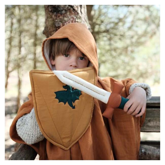 Bouclier et épée en tissu