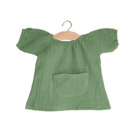 Robe Jeanne pour poupées 34 cm - Olive