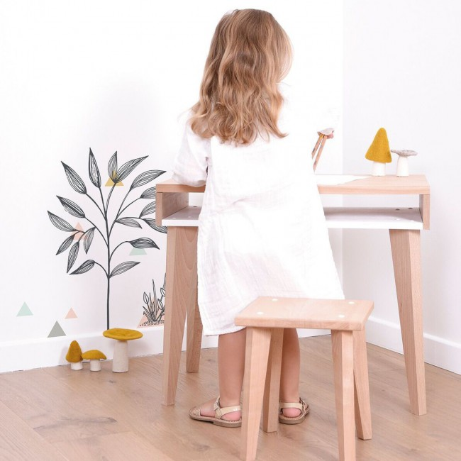 Sticker enfant buisson et triangles