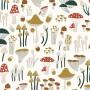 Papier peint motifs champignons