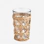 Verre à boire avec bambou tressé