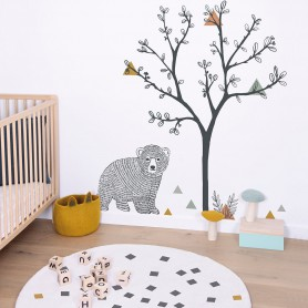 Sticker enfant xl arbre et triangles