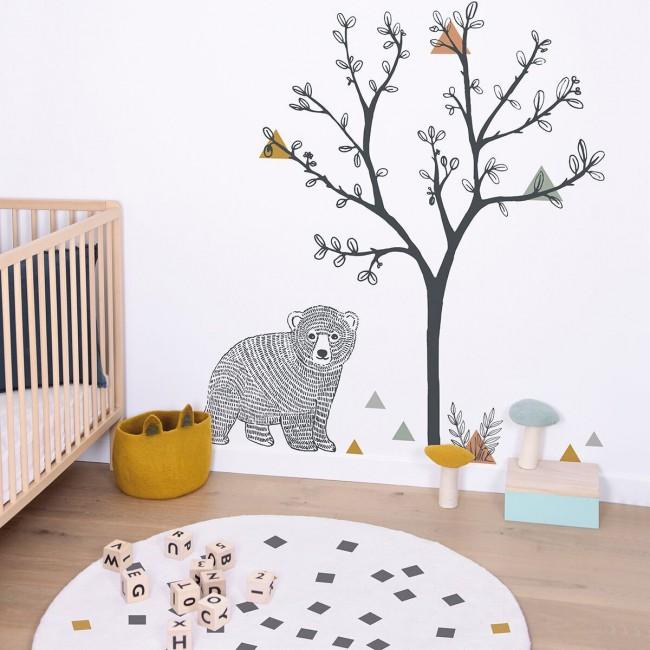 Sticker enfant xl arbre et triangles