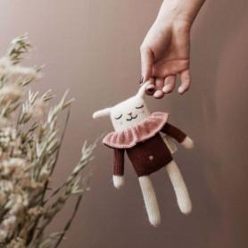 Doudou agneau blouse sienne Main sauvage