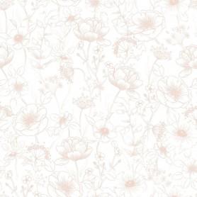 Papier peint enfant fleurs Botany rose