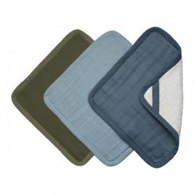 Lingette bébé lavable coton bio set de 3