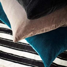 Housse de coussin en velours - Bleu Océan