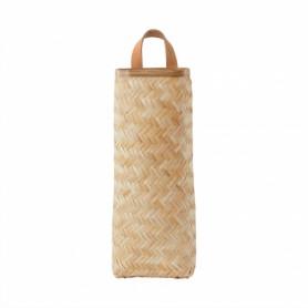 Panier à suspendre en bambou tressé