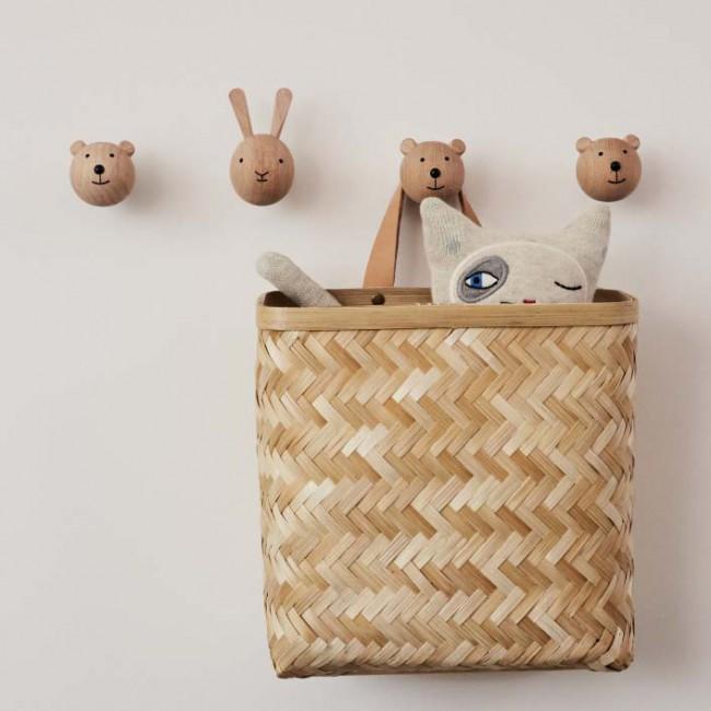 Crochet mural en bois mini