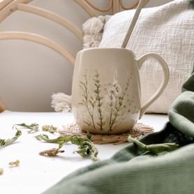 Mug en grès fleuri Bea - Bloomingville