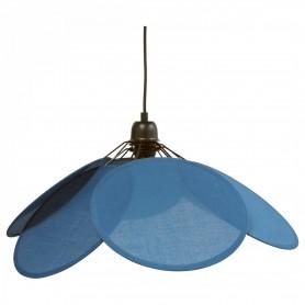 Suspension Fleur - Bleu denim