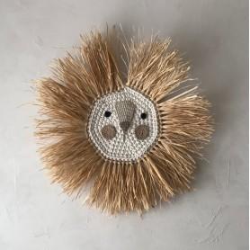 Tête de lion crochet et raphia