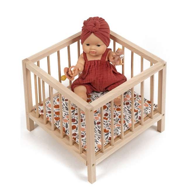 Parc en bois pour poupée