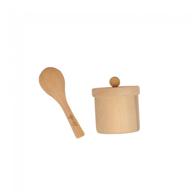 Jouet en bois petit pot et cuillère Olli Ella
