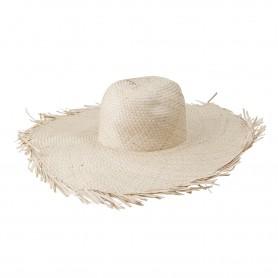 Chapeau de paille à franges